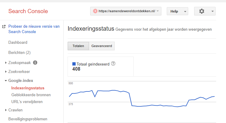 SEO scan - Google indexering checken